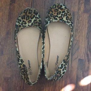 Forever 21 Ballet flats Cheetah Print Shoes
